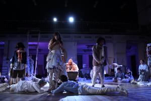 Theatre performance: Marat/Sade. Client: Akanda